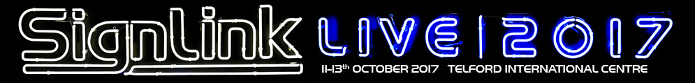 See us SignLink Live 11th – 13th October 2017